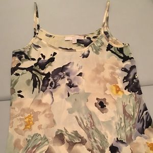 {banana republic} floral silky camisole top xs